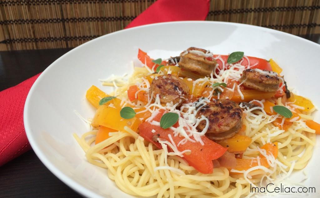 GF sausage Peppers   ImaCeliac.com