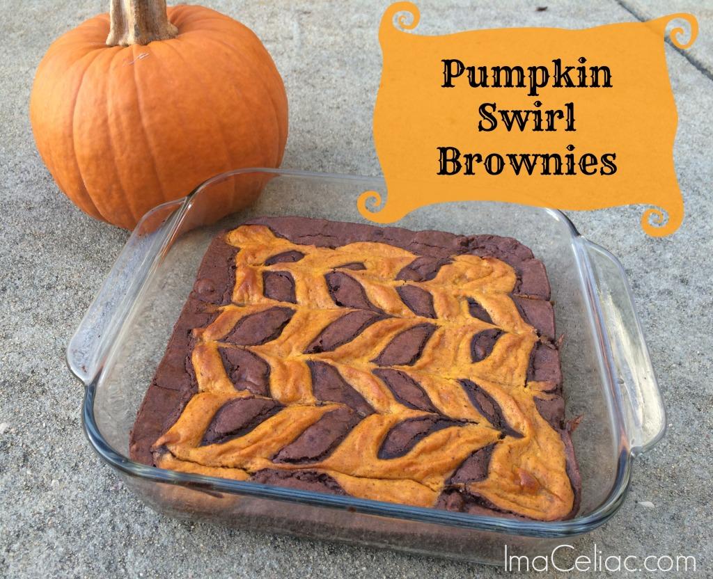Pumpkin Swirl Brownies - I'm A Celiac
